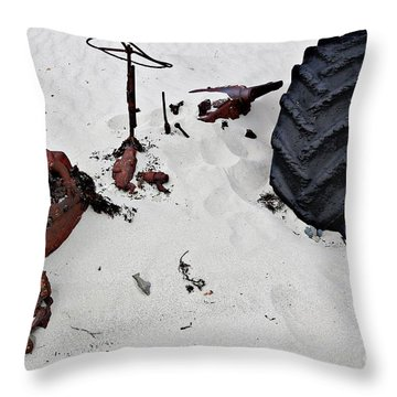 Throw Pillow featuring the photograph Buried Up To The Wheels by Stephen Mitchell