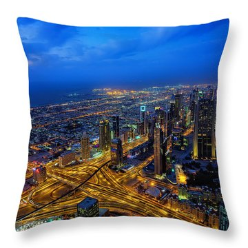 Burj Khalifa View Throw Pillow
