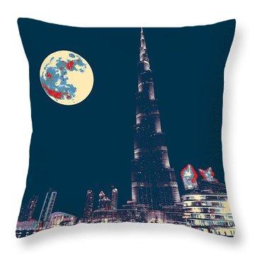Burj Khalifa Emirates Dubai 4 Throw Pillow