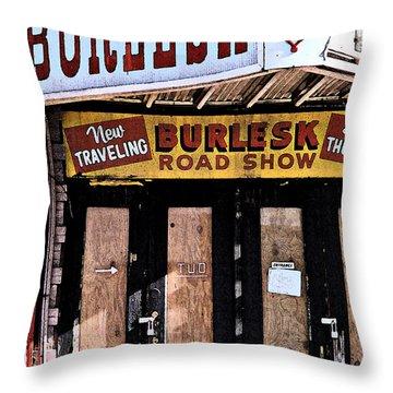 Burlesk At The Folly Throw Pillow