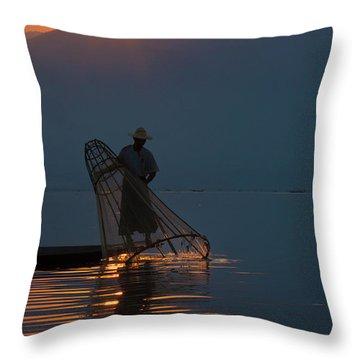 Burma_d143 Throw Pillow by Craig Lovell