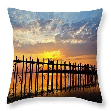 Burma_d819 Throw Pillow by Craig Lovell