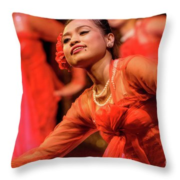 Burmese Dance 1 Throw Pillow