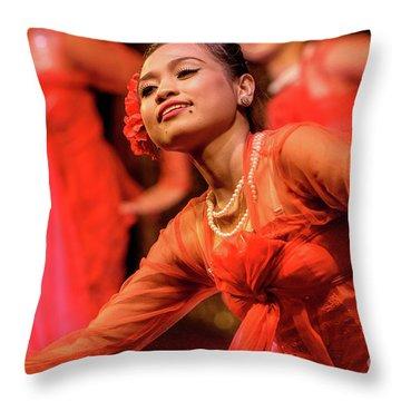 Burmese Dance 1 Throw Pillow by Werner Padarin