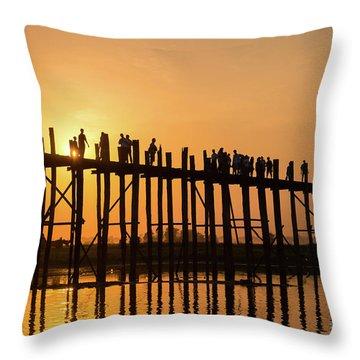 Burmese Sunset Throw Pillow