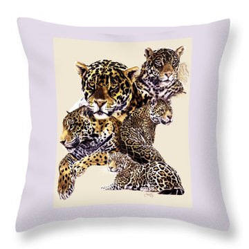 Throw Pillow featuring the drawing Burn by Barbara Keith