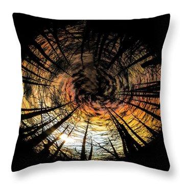 Burn Circle Throw Pillow