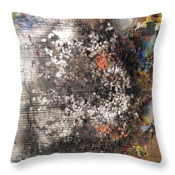 Burn Crackle Fizz Throw Pillow