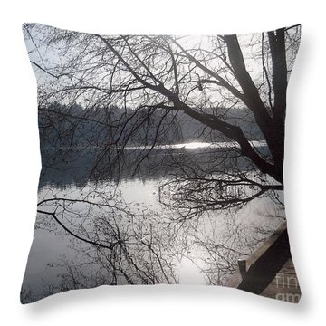 Burnaby Walk Throw Pillow by Kim Prowse