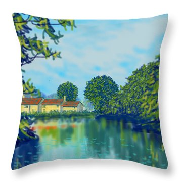 Burnby Hall Throw Pillow