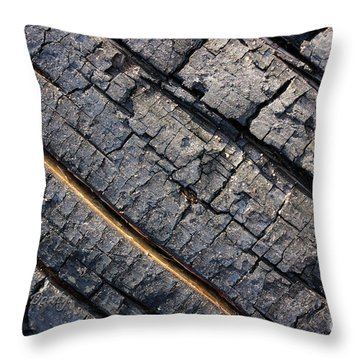 Burnt Bark Throw Pillow