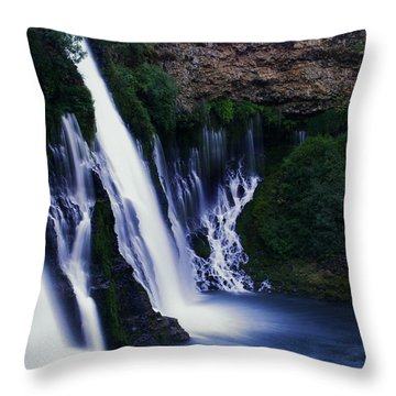 Throw Pillow featuring the photograph Burney Blues by Peter Piatt