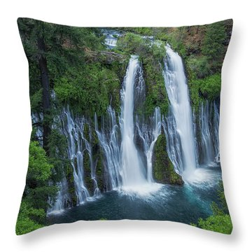 Throw Pillow featuring the photograph Burney Creek Falls by Patricia Davidson