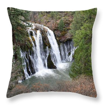 Burney Falls Throw Pillow