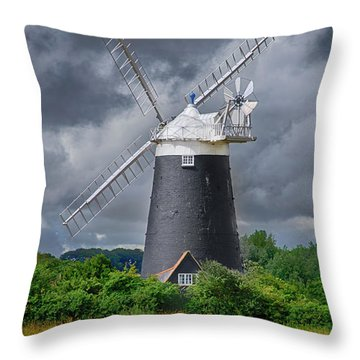 Burnham Overy Mill Throw Pillow by Steev Stamford