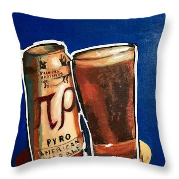 Burning Brothers Throw Pillow