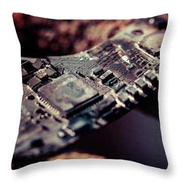 Burning Circuitry Throw Pillow