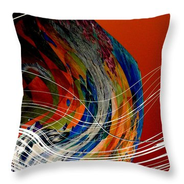 Burning City Sunset Throw Pillow