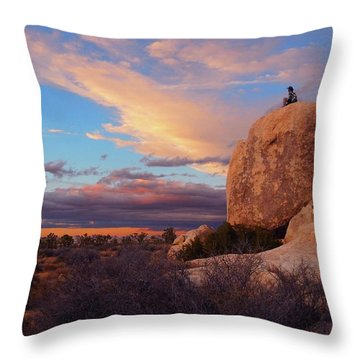 Burning Daylight Throw Pillow