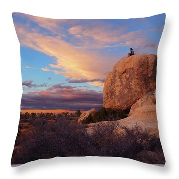 Burning Daylight Throw Pillow