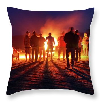Throw Pillow featuring the photograph Burning Grains Of Rocket Fuel by Peter Thoeny