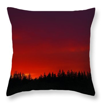 Burning In The Sky Throw Pillow