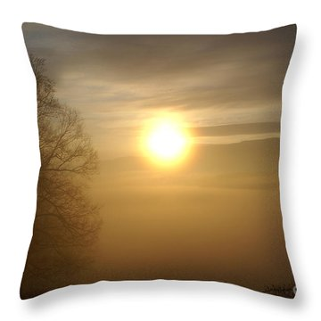 Burning Off The Fog Throw Pillow
