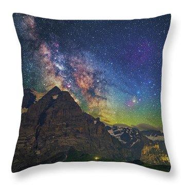 Burning Skies Throw Pillow