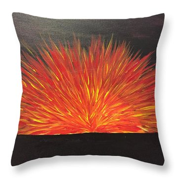 Burning Sun Throw Pillow