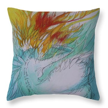 Throw Pillow featuring the drawing Burning Thoughts by Marat Essex