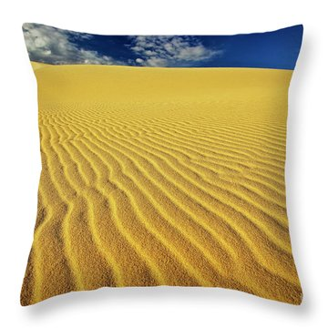 Burning Up At The White Sand Dunes - Mui Ne, Vietnam, Southeast Asia Throw Pillow