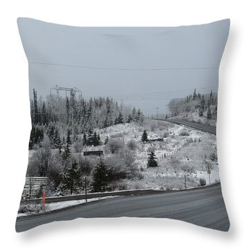 Burns Lake Bc Throw Pillow