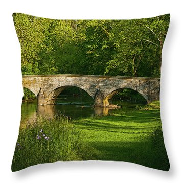 Burnside Bridge Throw Pillow