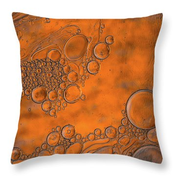 Burnt Bubble Fire Plate Throw Pillow by Bruce Pritchett
