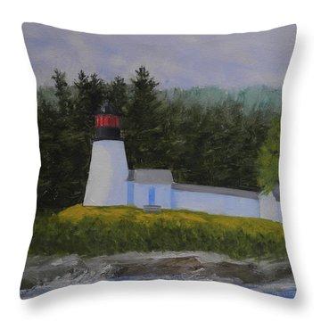 Burnt Island Light Throw Pillow