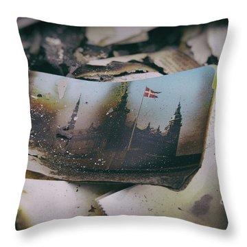 Burnt Throw Pillow by Karen Stahlros