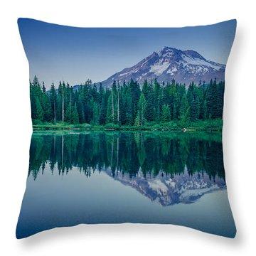 Burnt Lake Reflection Throw Pillow