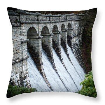 Burrator Reservoir Dam Throw Pillow