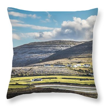 Throw Pillow featuring the photograph Burren Landscape by Juergen Klust