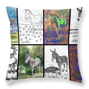 Burro Sampler #1 Throw Pillow