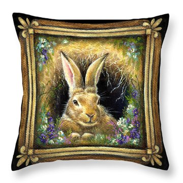 Burrowing Into Tranquility Throw Pillow