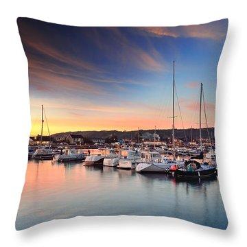 Burry Port 2 Throw Pillow