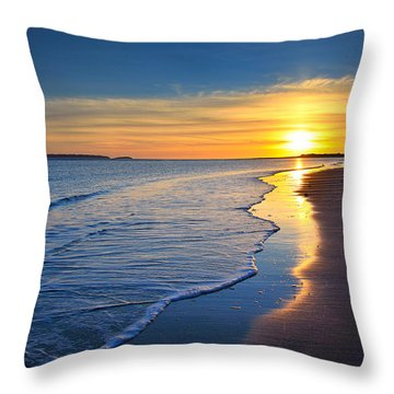 Burry Port Beach Throw Pillow