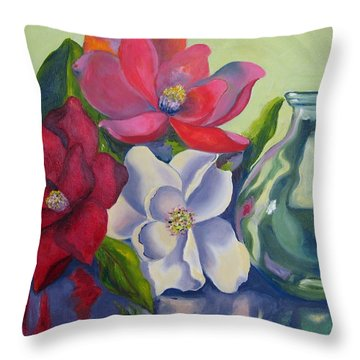 Burst Of Color Throw Pillow by Lisa Boyd