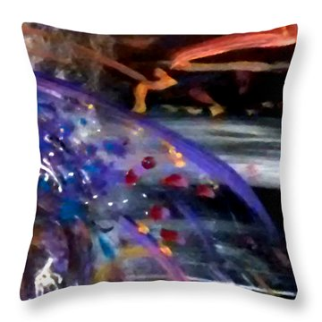 Throw Pillow featuring the painting Burst Of Color by Michelle Audas