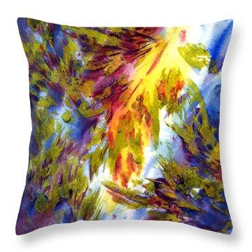 Burst Of Fall Throw Pillow