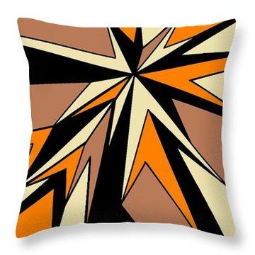 Burst Of Orange 2 Throw Pillow