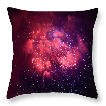 Burst Of Smoke And Light Throw Pillow by Stephan Grixti