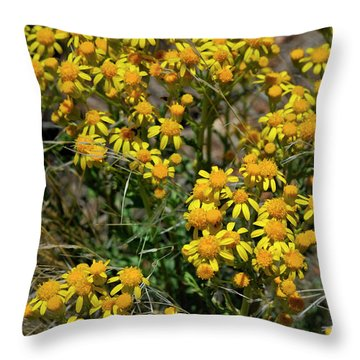 Burst Of Yellow Throw Pillow