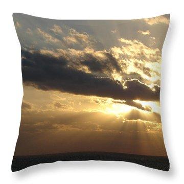 Burst Throw Pillow by Priscilla Richardson